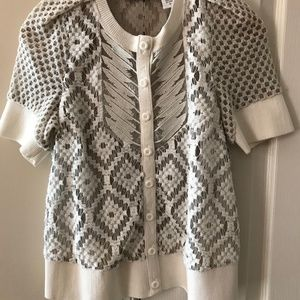 Byron Lars Anthropologie Lace Sweater Sz 10